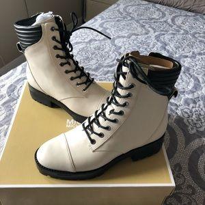 "Michael Kors  ""Bastian Ankle"" (Moto Combat Boot) 7"